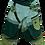 Thumbnail: Green Tone - Thick Cotton Harem Pants