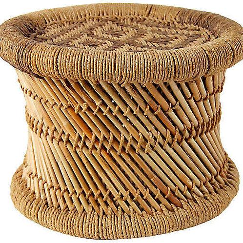 Bamboo & Jute Stol - Mini