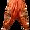 Thumbnail: Orange Om Stonewash Harem Trousers