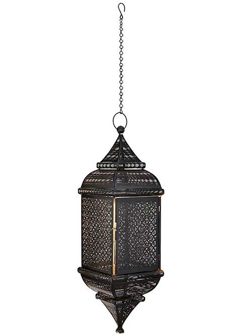 Rectangle Shape Hanging Metal Lantern