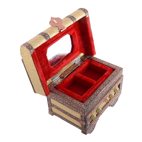 Handmade Brown Wooden Jewellery Box