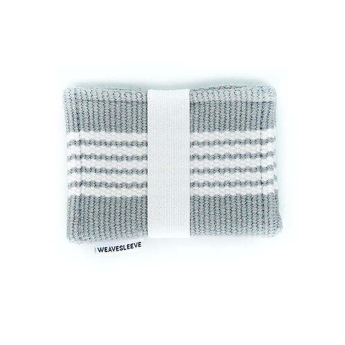 WeaveSleeve Blanco y Gris Two Pocket Wallet