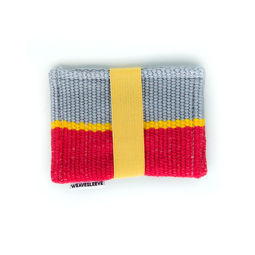 WeaveSleeve Amarillo Striped Two Pocket Wallet