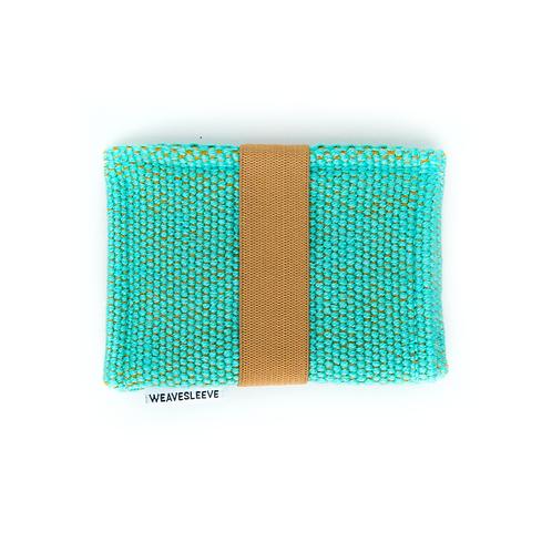 WeaveSleeve Verde Azulado Two Pocket Wallet