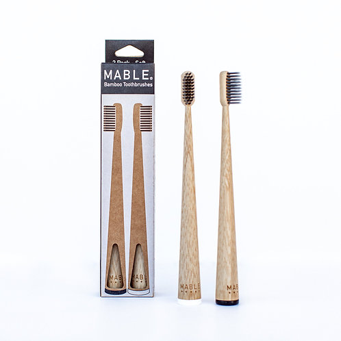 Two Pack Toothbrush - Charcoal Edition - Mable