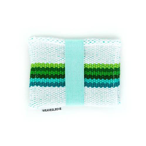 WeaveSleeve Azul Verde Two Pocket Wallet