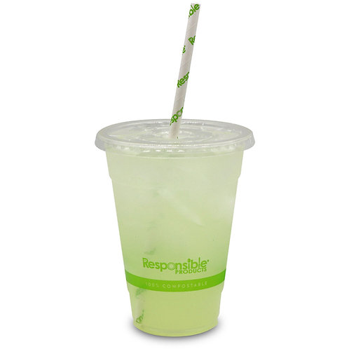 16 oz Compostable Clear Cold Cup - Responsible Products