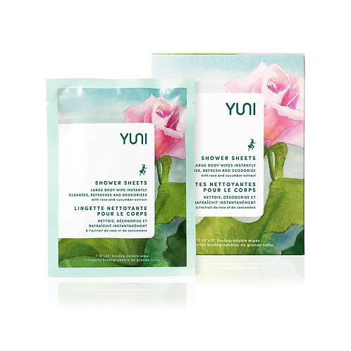 Rose Cucumber Natural Biodegradable Body Wipes (Box of 12) - YUNI