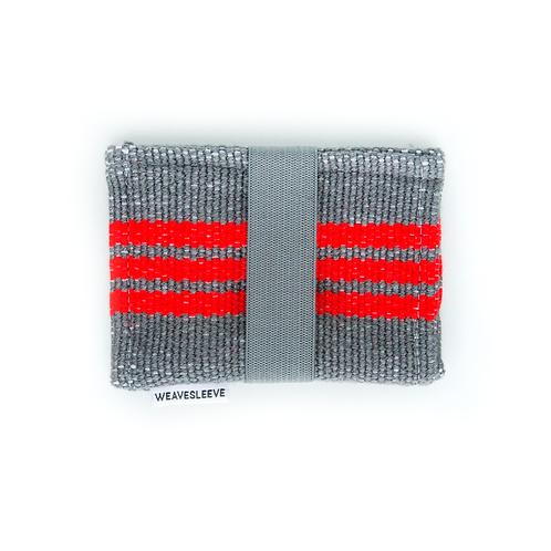 WeaveSleeve Rojo Stripped Two Pocket Wallet