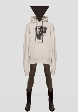 Liam Hodges AW20 Taupe Brave Faces Hoodie