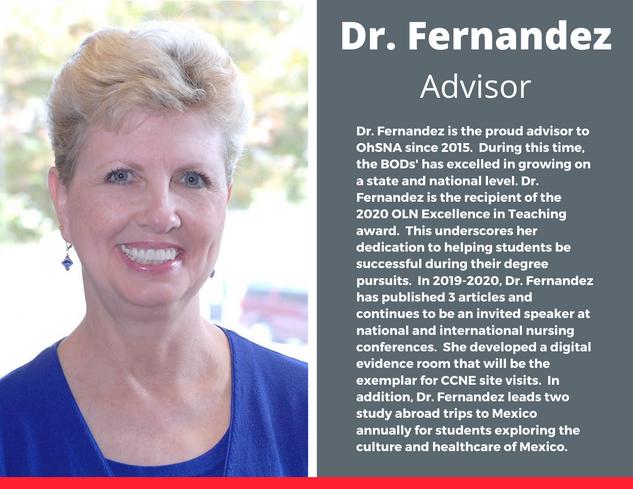Advisor, Dr. Kathy Fernandez
