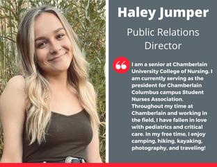 Public Relations Director, Haley Jumper