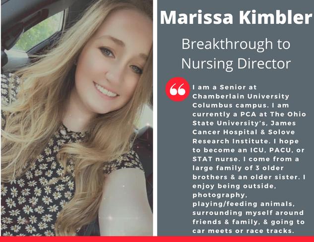 Breakthrough to Nursing Director, Marissa Kimbler