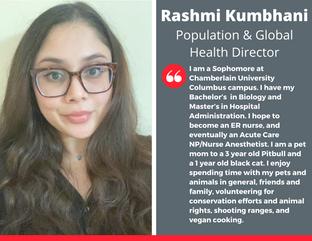 Population & Global Health Director, Rashmi Kumbhani