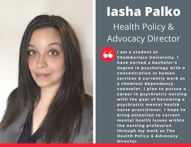 Health Policy & Advocacy Director, Iasha Palko