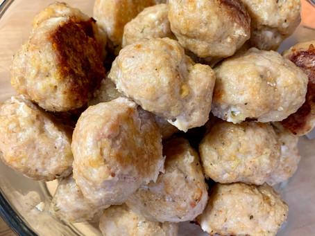 30-Minute Baked Chicken Meatballs