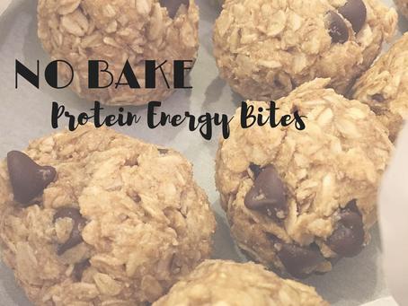 NO BAKE Protein Energy Bites