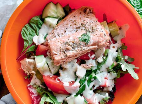 Summer Salmon Strawberry Salad