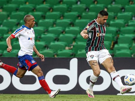 Série A: Bahia perde para o Fluminense e se aproxima do Z-4