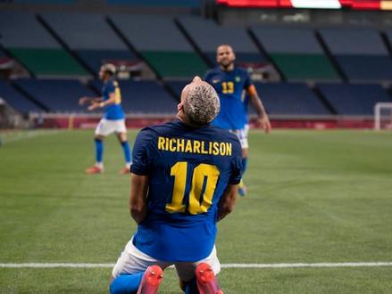 Futebol Masculino: Brasil vence Arábia Saudita e avança para as quartas de final