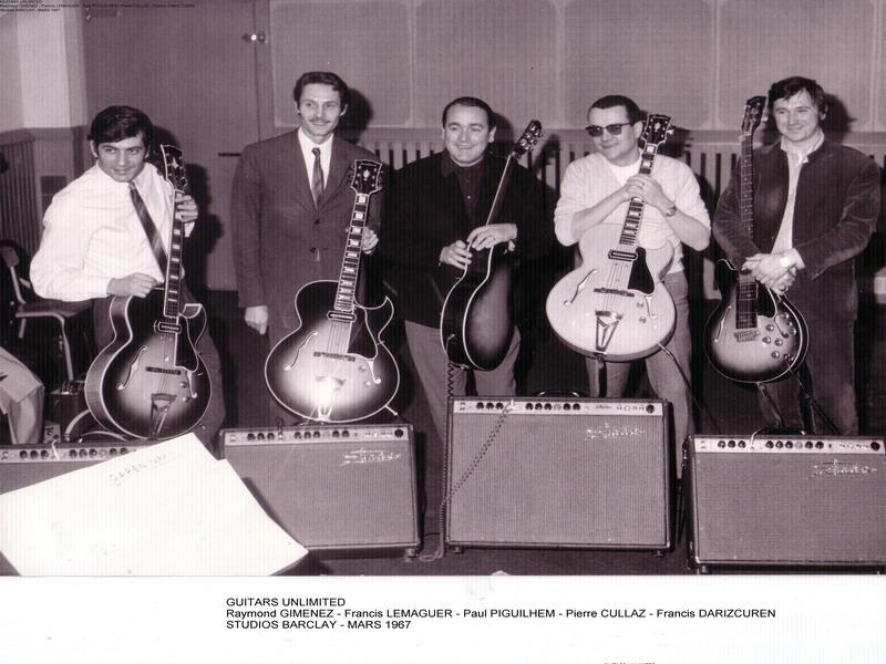 GUITARS UNLIMITED Studios Barclay 1967