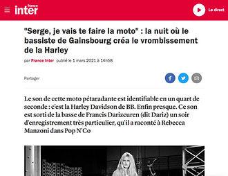 Article/Interview Dariz France Inter
