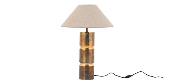 Flamant Metal Table Lamp with Antique Brass Column Base