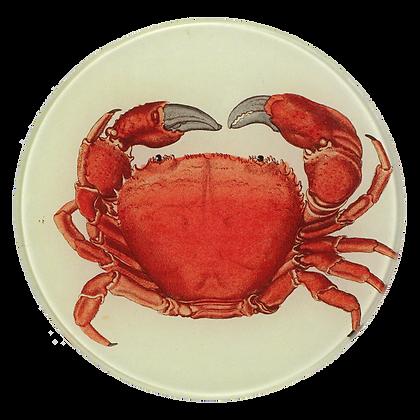 John Derian Red Crab Decoupage Round Dish