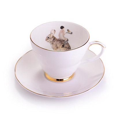 Ali Miller London Fine Bone China Angel Tea Cup and Sauce