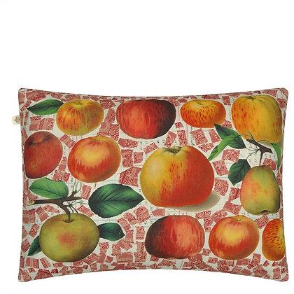 John Derian Apples Carmine Linen Mix Cushion