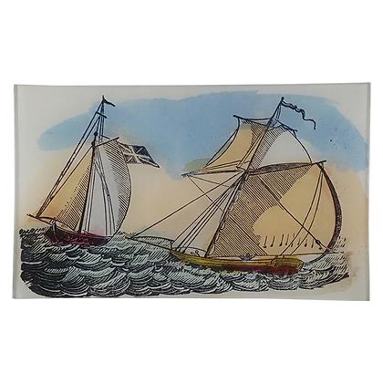 John Derian Sail Boats Decoupage Rectangular Tray