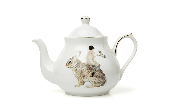 Ali Miller London Fine Bone China 4 Cup Angel Tea Pot