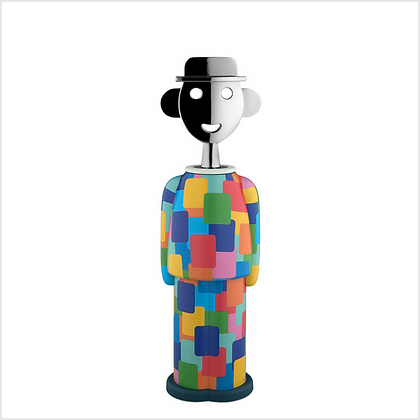 Alessi Alessandro M Multi Coloured Resin and Chrome Plated Corkscrew