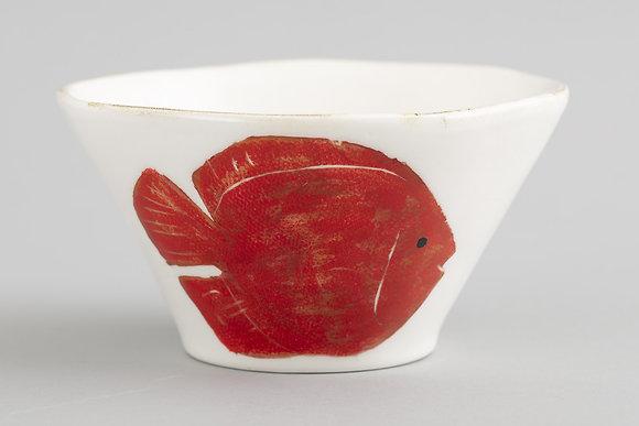 Flamant Hand Painted Di Mare Fish Bowl
