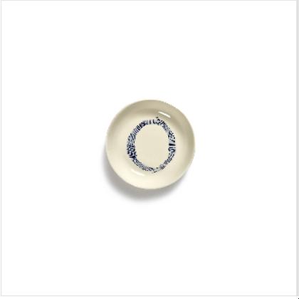 Feast by Ottolenghi Small Earthenware Blue Swirls Dish