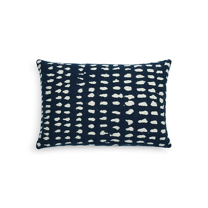 Ethnicraft Navy Dots cushion
