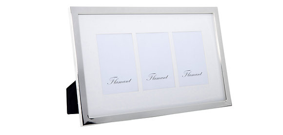 Flamant Silver Plated Triple 10 x 15 Photo Frame