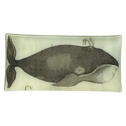 John Derian Spouting Whale Decoupage Rectangular Pencil Tray