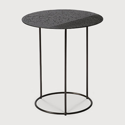 Ethnicraft Round Metal Lava Top Table