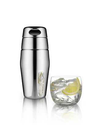 Alessi Matt Finish Stainless Steel Cocktail Shaker 25cl