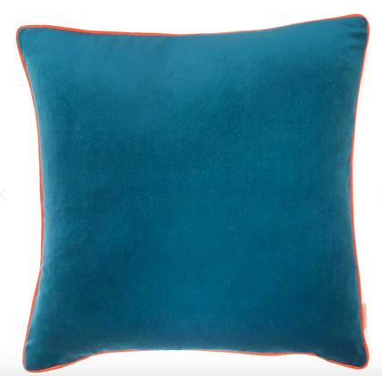 Susi Bellamy Turquoise Plain Velvet Cushion