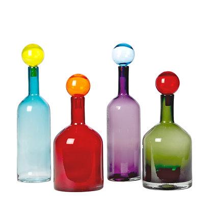 Pols Potten Set of 4 Bubbles and Bottle Multi Mix Large