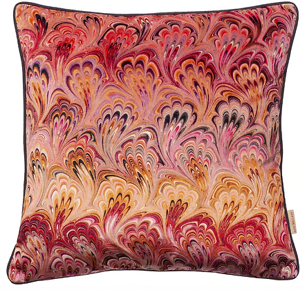 Susi Bellamy Blush Bouquet Printed Velvet Cushion