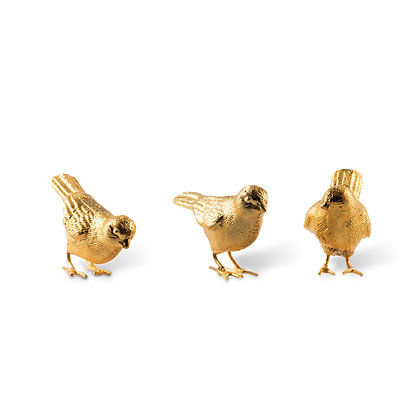 Pols Potten Set of 3 Gold Plated Sparrows