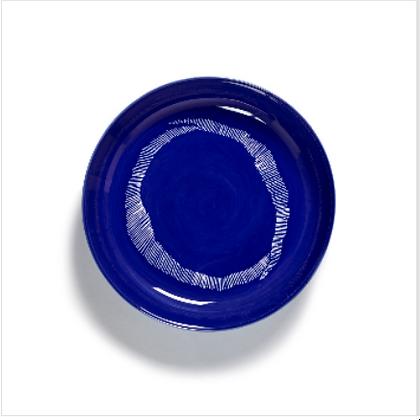 Feast by Ottolenghi Large Earthenware White Swirls Plate