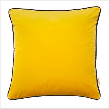 Susi Bellamy Chartreuse Plain Velvet Cushion