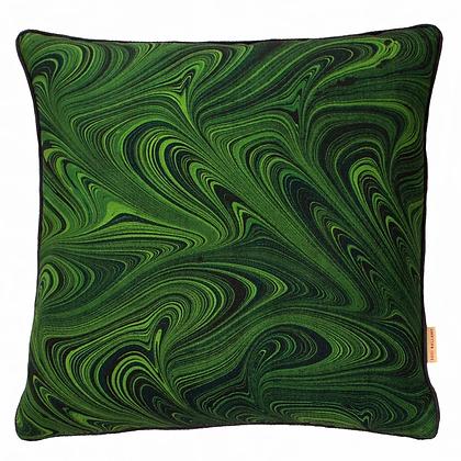 Susi Bellamy Malachite Printed Linen Cushion