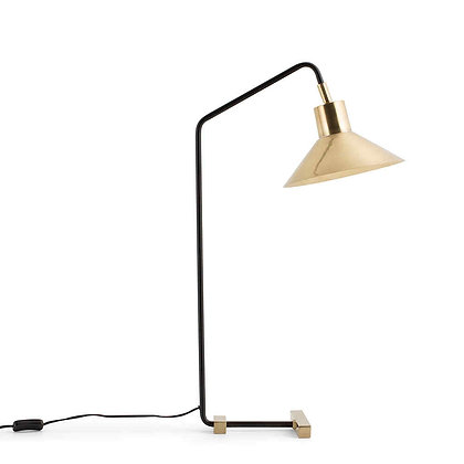 Flamant Large Desk Lamp with Solid Brass Shade