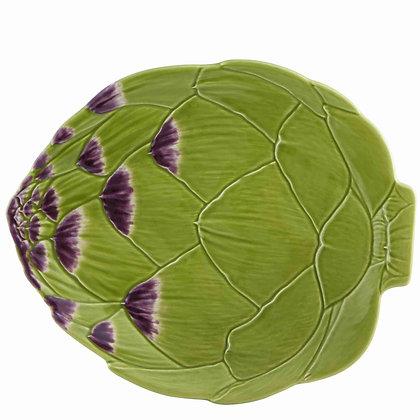 Bordallo Pinheiro Hand Painted Earthenware Artichoke Plate