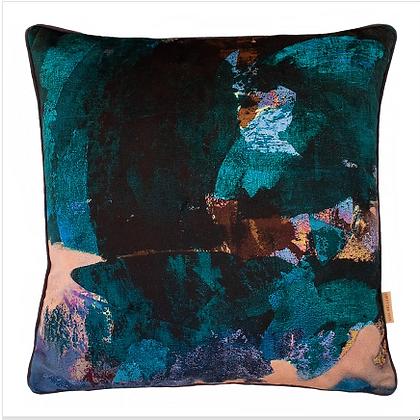 Susi Bellamy Midnight Scape Printed Velvet Cushion